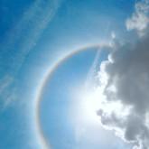 rainbow, sun, halo, cloud