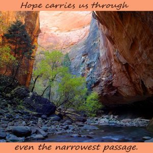 zion narrow passage