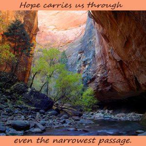 zion narrow passage