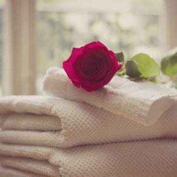 rose towels gratitude gift