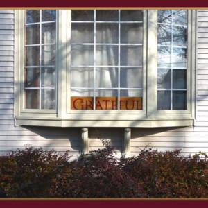 home sign grateful