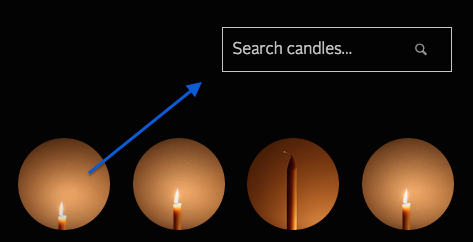 screen shot candle search