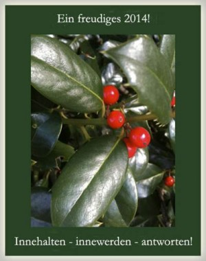 Holly berries, leaf