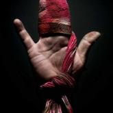 hand, shoe shine rag