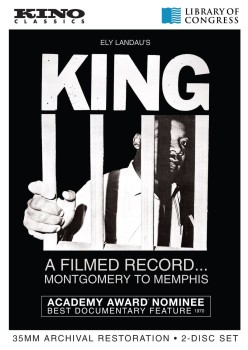 DVD cover of King, A filmed record Montgomery to Memphis