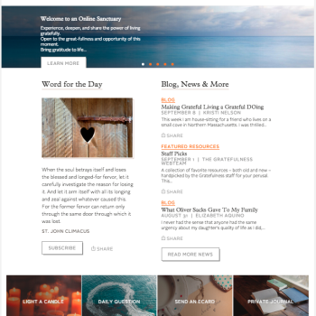 Home page of Gratefulness.org