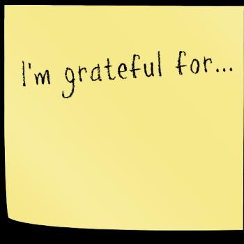 post-it grateful note