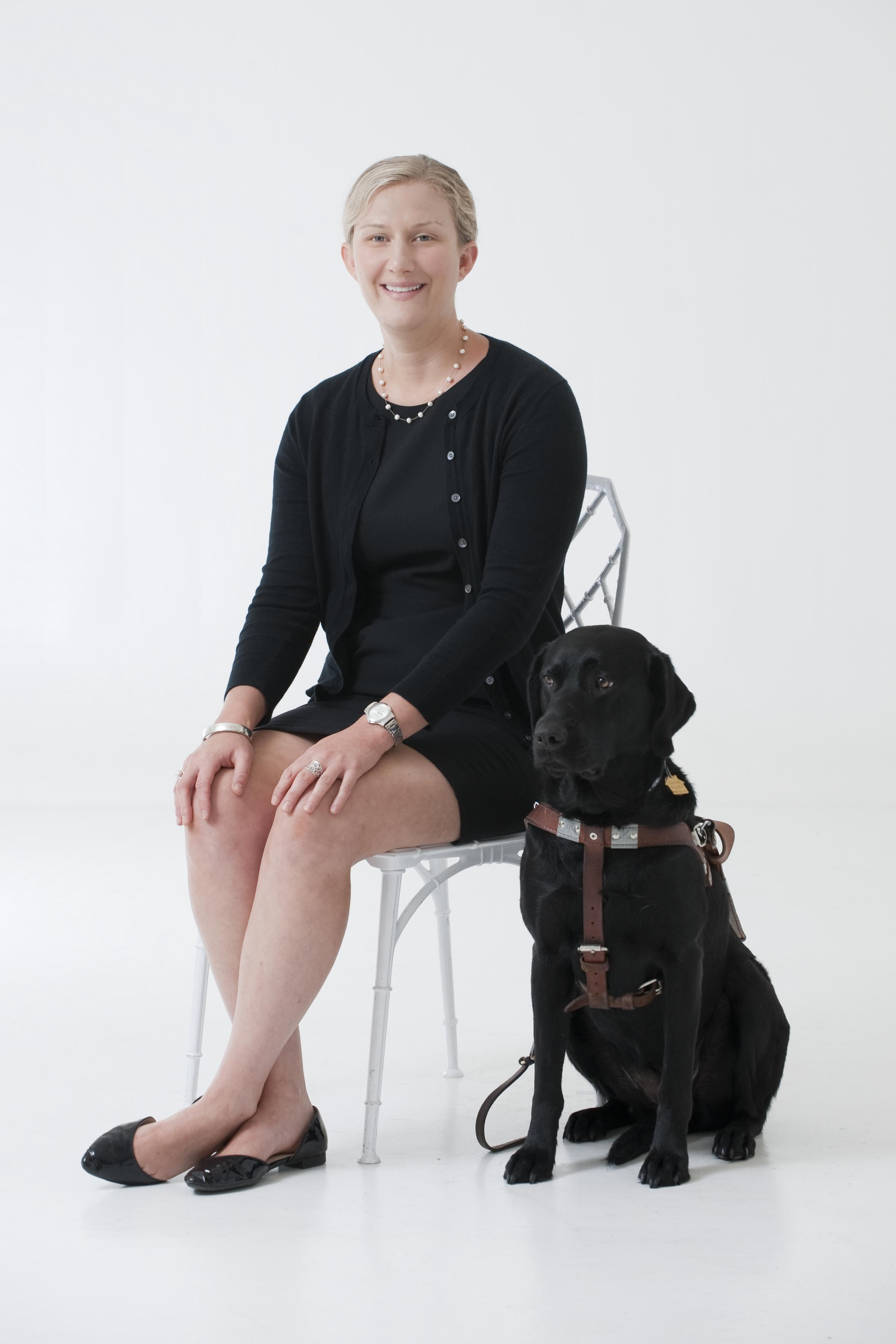 Laura Bratton and her current guide dog, Betty - Ernest Rawlins Photography