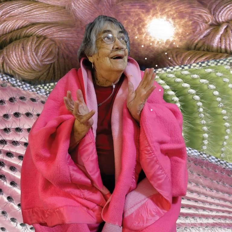 old woman, joy, illness