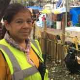 Pola Díaz Moffitt help find trapped survivors