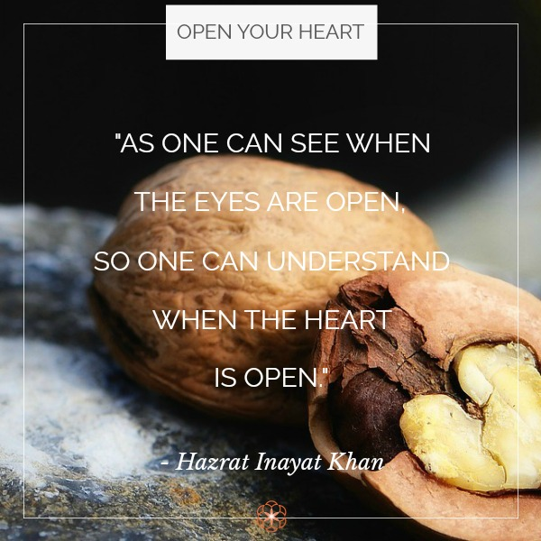 quote over walnut cracked open revealing heart-shaped nut.