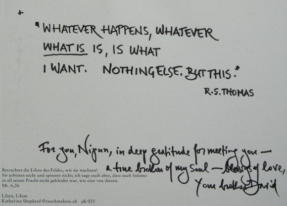 hand-written note