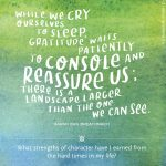 Everyday Gratitude: Day 3 – While We Cry Ourselves to Sleep…