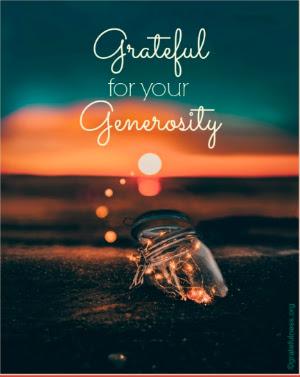 Grateful Generosity